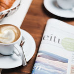 Coffee & Newspaper on a table
