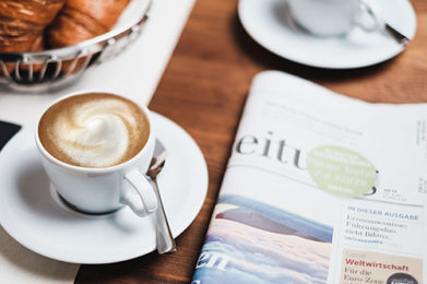 Table with Coffee and Newspaper