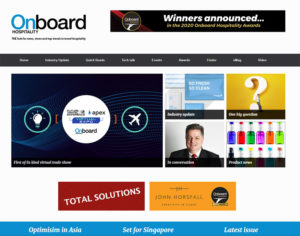 Website of the Onboard Hospitality Magazin